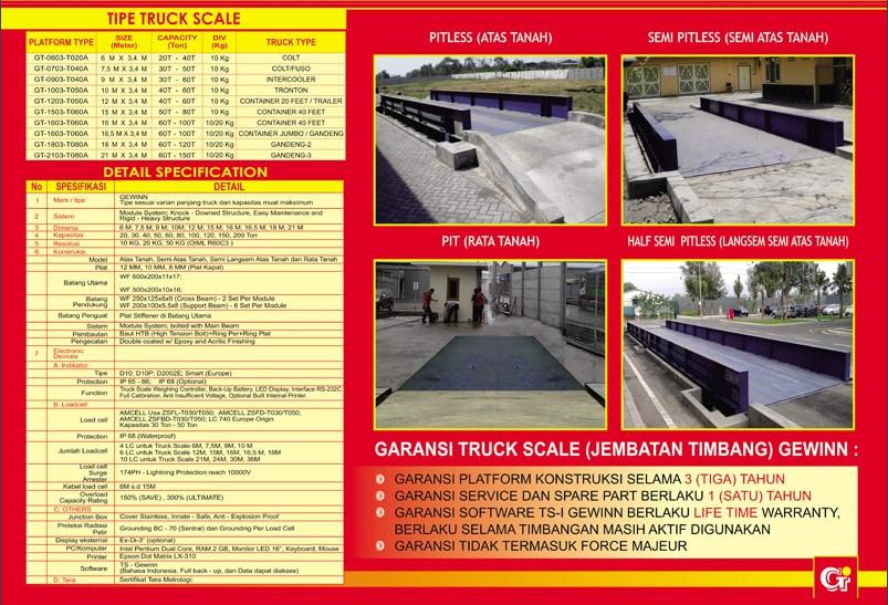 Berbagai pilihan model tipe jembatan timbang