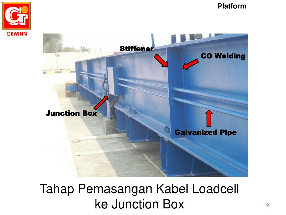 pipa listrik galvanis komponen timbangan truk