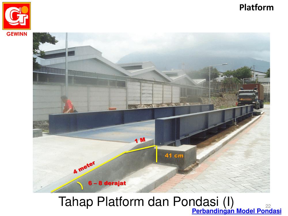platform dan pondasi timbangan truk