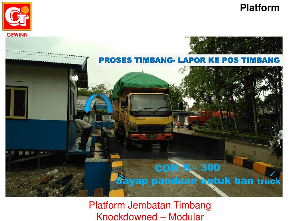 proses penimbangan jembatan timbang dan pelaporan pos operator