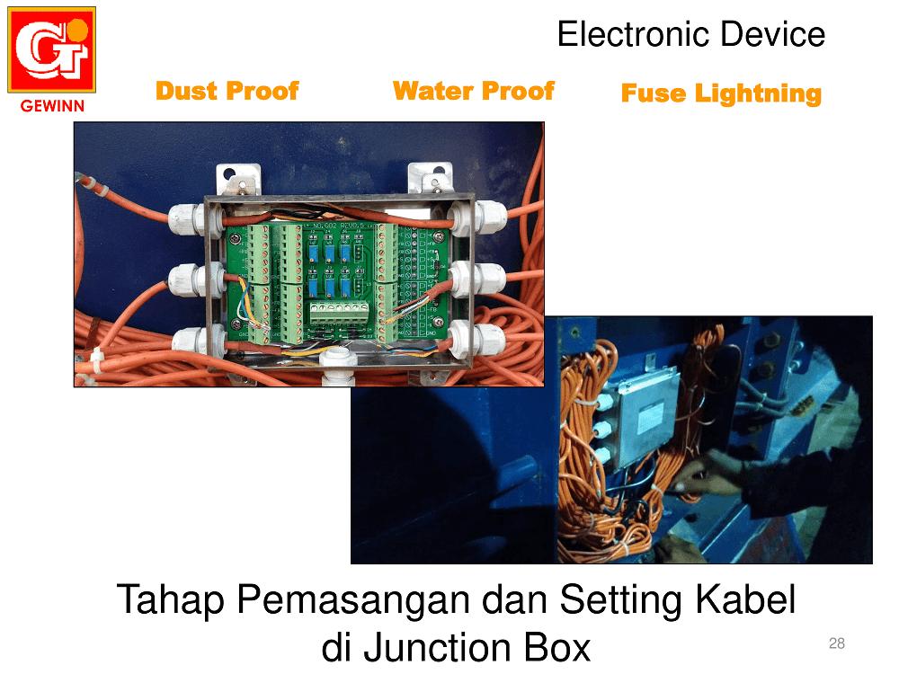 tahap pemasangan dan setting kabel di junction box