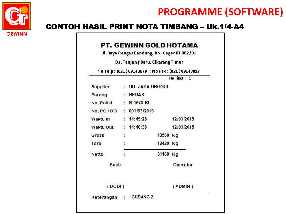 contoh hasil print nota timbang